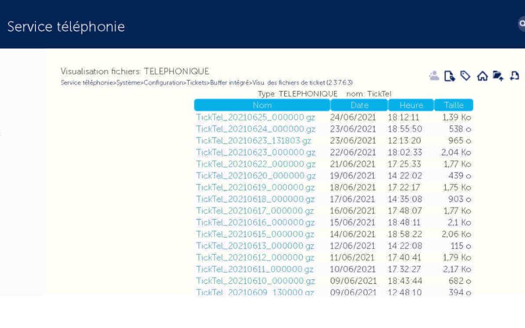 MiVoice 5000 : tickets de communication par API Web